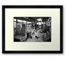 The Very Late Bus Framed Print