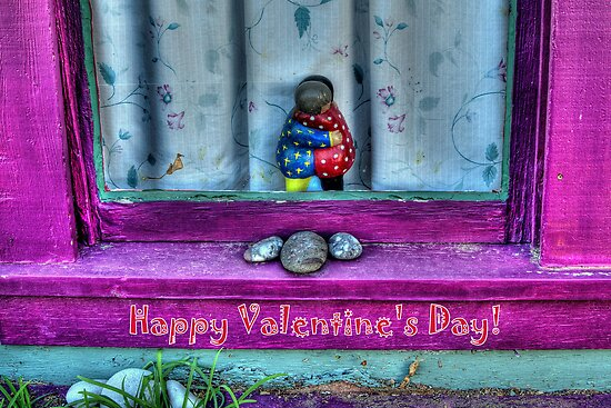 """ Window Hug""  Valentine's Day Card by Diana Graves Photography"