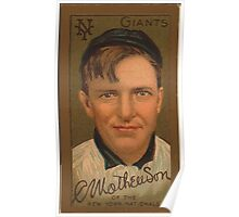 Benjamin K Edwards Collection Christopher Mathewson New York Giants baseball card portrait Poster