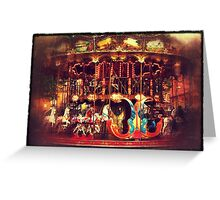 Fairground ride Greeting Card