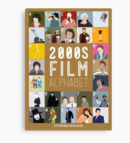 00s Film Alphabet Canvas Print