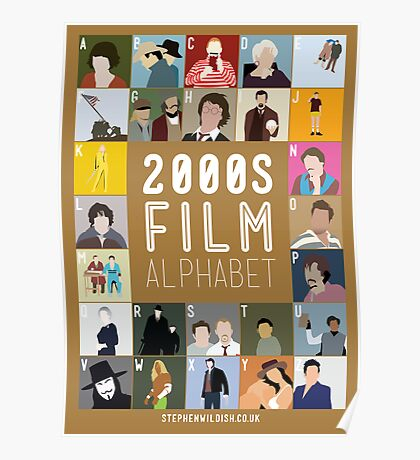 00s Film Alphabet Poster