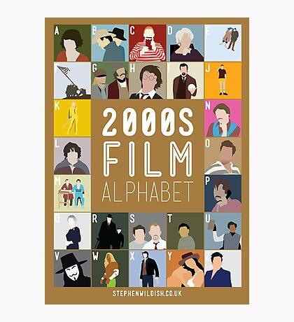 00s Film Alphabet Photographic Print