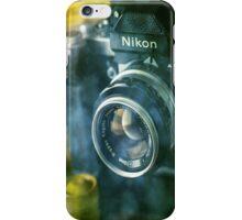 National geographic magazines & vintage Nikon F2 camera-Grunge iPhone Case/Skin