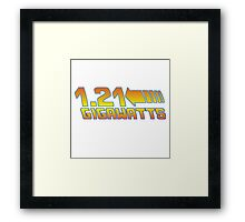 1 21 Gigawatts Back to The Future Framed Print