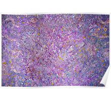 Lavender Haze Abstract Painting Poster