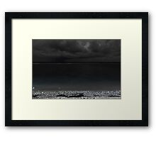 Gili T Night Storm Framed Print