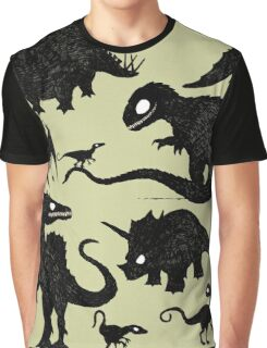 Silhouetted Dinosaurs Graphic T-Shirt