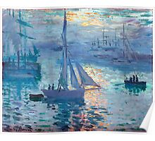 Sunrise - Marine - Claude Monet - 1873 Poster