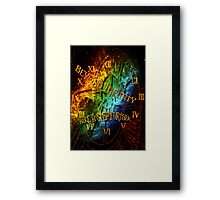 Beyond infinity-Time machine Framed Print
