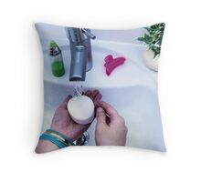 Washing hands Throw Pillow