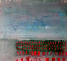Red Dash Landscape by Brooke Wandall