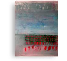 Red Dash Landscape Canvas Print