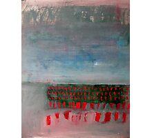 Red Dash Landscape Photographic Print