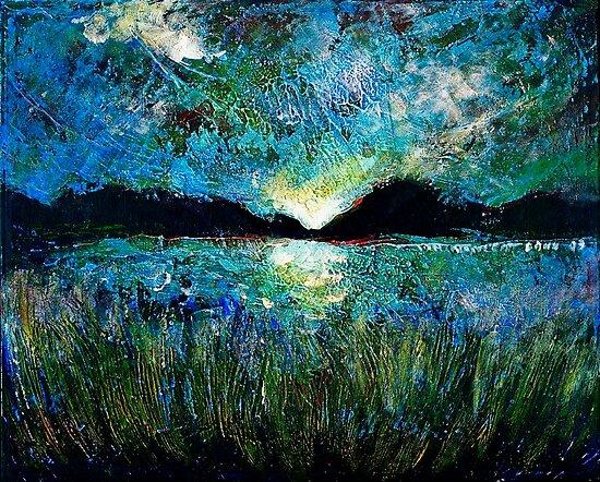Twilight on a Transylvanian Lake by ivDAnu