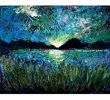 Twilight on a Transylvanian Lake Photographic Print