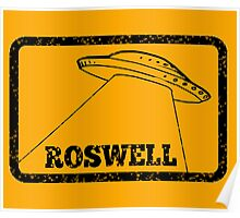 Roswell (retro) Poster