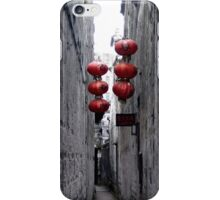 chinese red lanterns in xitang iPhone Case/Skin