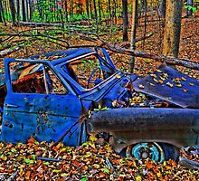 """"""" Old Blue Car - Camillus Forest, NY """" by DeucePhotog"""
