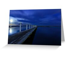 North Narrabeen Pool by Moonlight Greeting Card