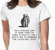 Fault in our stars I am a Grenade Womens Fitted T-Shirt
