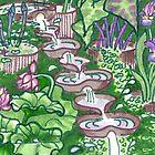 Flowform edible station garden by Cecilia Macaulay