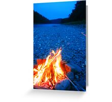 Beach Fire Greeting Card