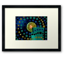 amazed by the rounds around me.... Framed Print