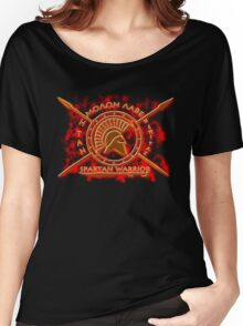 Spartan warrior - Molon lave and come back with your shield or on it! Women's Relaxed Fit T-Shirt