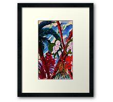 Blue tropic mist, watercolor Framed Print