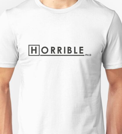 DR. HORRIBLE, PHD. Unisex T-Shirt