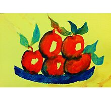 Plate of Apples,watercolor Photographic Print