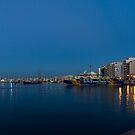 Reflecting on Malta - Sliema Blue Morning  by Georgia Mizuleva