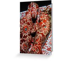 Projection Klimt Greeting Card