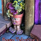 """ Doorstep Treasures""  Valentine's Day Card by Diana Graves Photography"