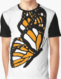 Orange Monarch Butterfly Graphic T-Shirt