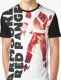 MMPR Armoured Red Print Graphic T-Shirt
