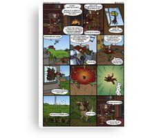 Comic of Origins Canvas Print