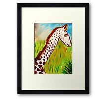 Eyes wide open, watercolor Framed Print