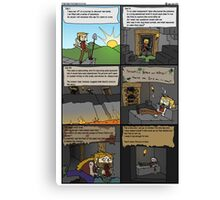 Doomed Adventures in Minecraft. Canvas Print