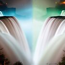 Niagara Falls at Night by Evgenia Attia