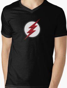 Black Flash Mens V-Neck T-Shirt