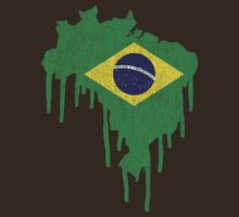 Brazil Paint Drip by CreativoDesign