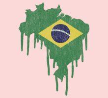 Brazil Paint Drip Kids Clothes
