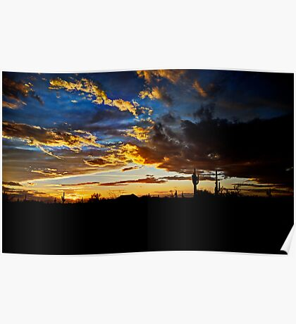 Arizona Desert Sunset  Poster