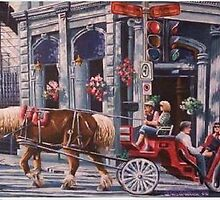 Horse & Buggy, Old Montreal by Dan Wilcox