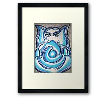 Ganapati (Sublime Blue) Framed Print
