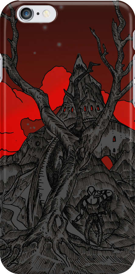 Fantasy Pen Drawing i phone case by Grant Wilson