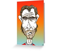Clint Eastwood Cartoon Caricature Greeting Card