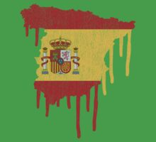 Spain Paint Drip by CreativoDesign